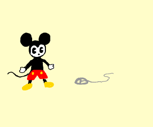 Mickey Mouse meets Computer mouse