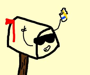mailbox having a cold