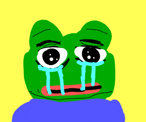 Pepe crying