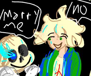 Sans is gay for Komaeda