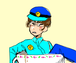 Police Officer in a Teacup