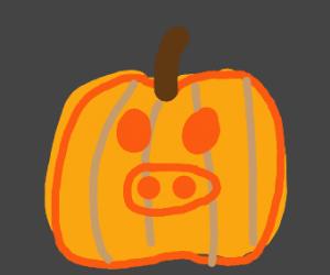 Pig Pumpkin