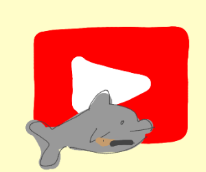 Dolphin defending Youtube logo