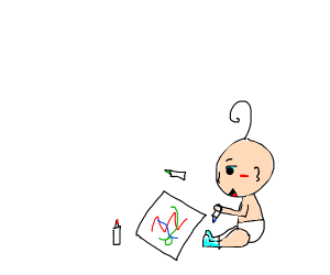 A baby drawing
