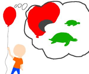 comic about a ballonthatlikestokillseaturtles