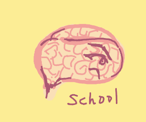 Brain doesn't like school