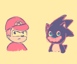 Sonic and Mario swap faces