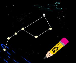 Big Dipper and Drawception pencil