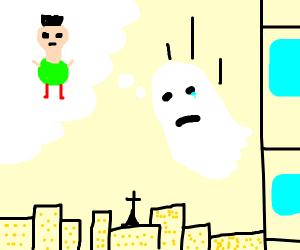 ghost falling sad about hamood