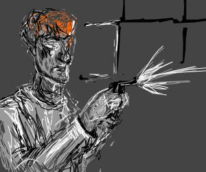 Ginger shooting gun