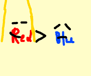 Red > Blue