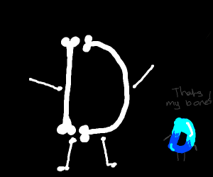 The skeleton of the Drawception D