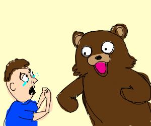 Man Cries At Pedobear