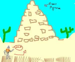 Ginger viking climbs the great pyramids