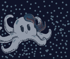 Octopus with hair