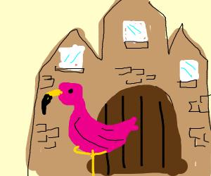 Flamingo in a Castle