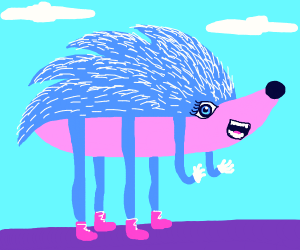 Realistic 6 legged Sonic