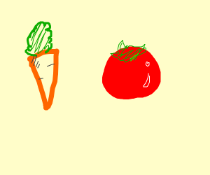 Carrot and tomato