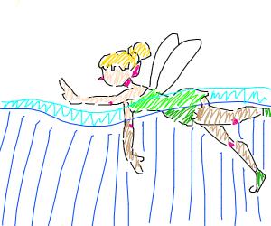 Sexy fairy takes a swim