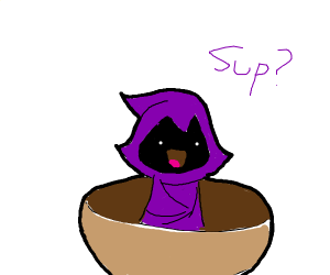 Raven in a Bowl