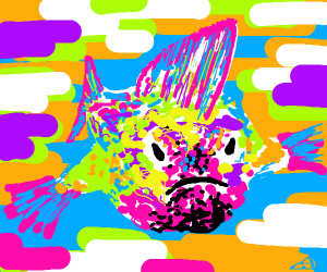 Fish with mohawk