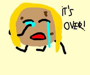 crying lady cookie says its over