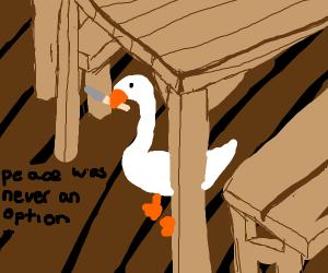 Knife Goose rages war