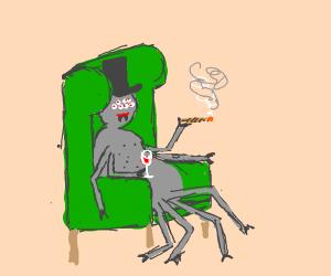 Happy classy spider