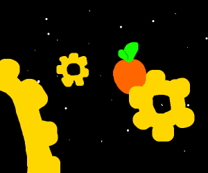Orange is space with gears