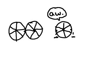 Literal third wheel