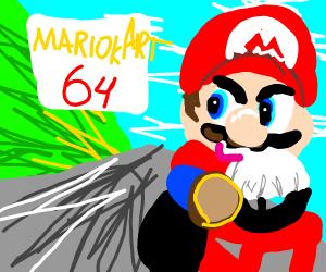Mario Kart 64 Box Art Drawception