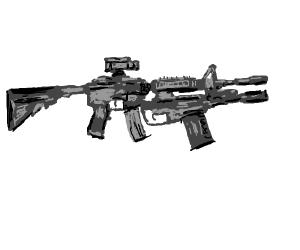 it's a gun with a gun, binch
