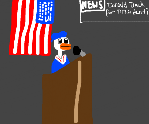 Donald Duck running for president
