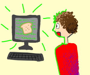 Programmer discovering Toast