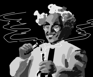 greyscale mad scientist