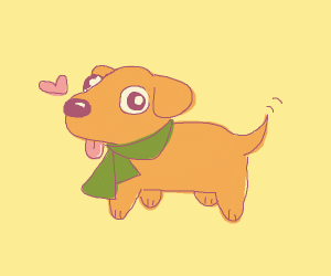 Cute doggo wearing a scarf