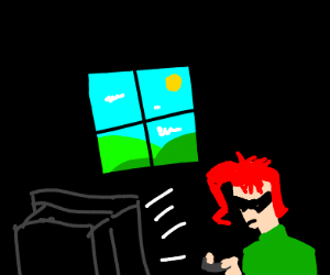 The Outside:  As seen from a gamer's window.