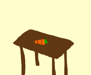 a carrot on a table