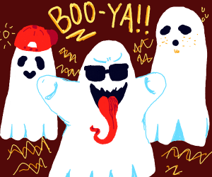 Me and the boys as ghosts