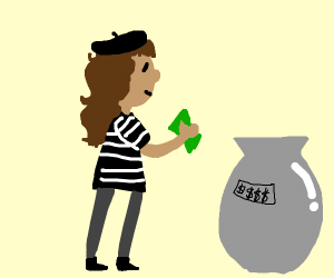 A rich french girl wants to buy a vase