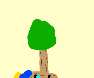 pinocchio's nose turned into tree