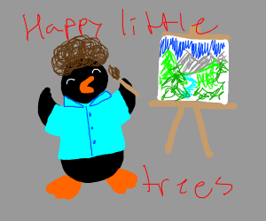 Penguin Paints A Picture