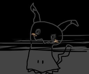 Creepy Mimikyu in the dark