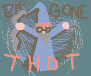 wizard fends off thot