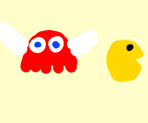 Blinky (Pac-Man) with wings