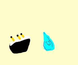 Lil titanic meets baby iceberg