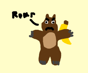 Bear With A Banana In His Hand