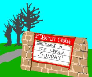 An icecream sunday