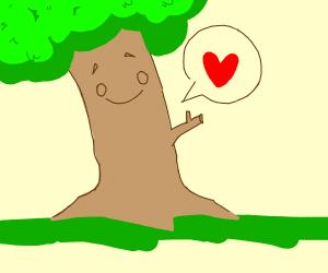 a very happy tree