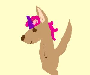 kangaroo and unicorn but together as a baby